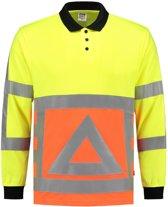 Tricorp 203002 Poloshirt Verkeersregelaar Fluor Oranje/Geel maat L