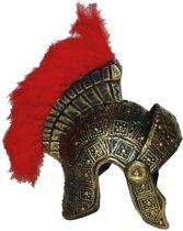 Romeinse helm met veren