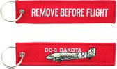 "Sleutelhanger ""Remove Before Flight & DC-3 Dakota"""