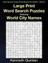 Large Print Word Search Puzzles Featuring World City Names