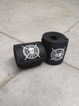 Tuff Guy - Professionele Wrist Wraps - BLACK - Heavy Duty Support en Hulp bij Fitness, Bodybuilding, Powerlifting, Gewichtheffen en Crossfit