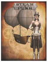 Steampunk - Oversized 8.5x11, 150 Page Lined Blank Journal Notebook