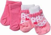Baby Born Sokken 2 - pack roze strik