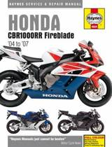 Honda CBR1000Rr Fireblade Service And Repair Manua