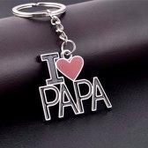 """Vaderdag sleutelhanger """"I love Papa"""""""
