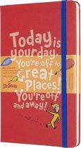 Moleskine 18 maanden agenda 2019-2020 -  Dr. Seuss - Wekelijks - Large (13x21 cm) - Rood - Harde kaft