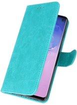 Samsung Galaxy S10  Hoesje Book Case Groen