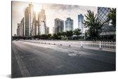 Prachtige rustige weg in Beijing Aluminium 180x120 cm - Foto print op Aluminium (metaal wanddecoratie) XXL / Groot formaat!