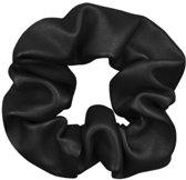 Jumalu scrunchie leder haarwokkel haarelastiekjes - zwart - 1 stuk
