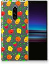 Sony Xperia 1 TPU Hoesje Design Fruits