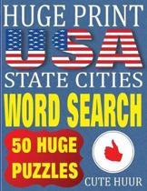 Huge Print USA State Cities Word Search