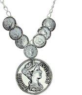 Ketting met munten zilver-kleur