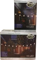 Partylights Set - Koppelbaar - Buiten - 20 LED - Warm wit - 10m