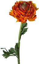 Viv! Home Luxuries Ranonkel (groot) - zijden bloem - oranje - topkwaliteit