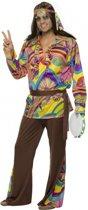 Gekleurd hippie pak voor heren 52-54 (l)