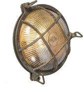 QAZQA Nautica - Plafondlamp en wandlamp - 1 lichts - D 100 mm - Bruin