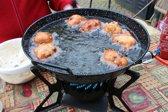 Driepoot wokbrander 7.5KW met wokpan / gasbrander / camping gasstel