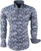 Ferlucci - Heren Overhemd - Veren - Puglia - Grijs
