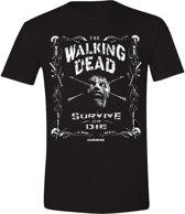 The Walking Dead - Survive or Die Mannen T-shirt - Zwart - L