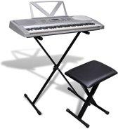 Elektrisch keyboard met 61 toetsen + verstelbare standaard en een stoel