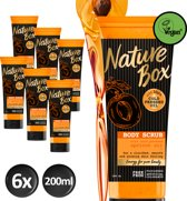 Nature Box Abrikoos Vegan Bodyscrub 200ml - 6 stuks - Voordeelverpakking