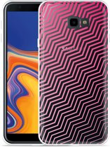 Galaxy J4 Plus Hoesje Wavy Pink