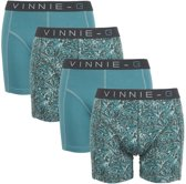 Vinnie-G boxershorts Leaves Print-Light 4-pack -XXL