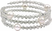 Zoetwater parel armband Pearl W AB Crystal