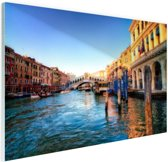 Rialto Brug Glas 120x80 cm - Foto print op Glas (Plexiglas wanddecoratie)