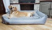 XXL Hondenbed van kunstleer - hondenkussen hondensofa kattenbed hondenkorf - waterdicht - 120x90