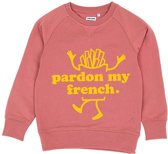 PARDON MY FRENCH DARKROSE KIDS SWEATER