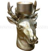 Woontante - Herten Waxinelichthouder - Zilver - (S)