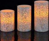 Led kaarsen met kerst patroon