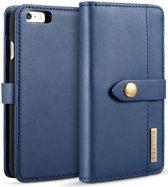 Apple iPhone 6s Plus Leren 2-in-1 Bookcase en Back Cover Hoesje Blauw