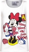 Mouwloos Minnie Mouse t-shirt wit 98