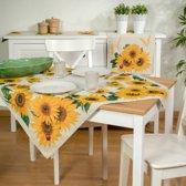 Tafelkleed - luxe gobelin - Zonnebloem - Vierkant 100 x 100