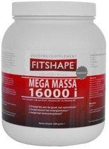 Fitshape Mega Massa Aardbei - 1200 gram - Eiwitshake