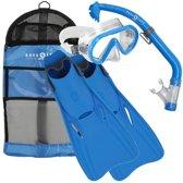 Aqua Lung Sport Santa Cruz Junior Snorkelset Kinderen S M Maat 27 31 Blauw