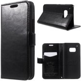 Kds PU Leather Wallet hoesje HTC One M9 zwart