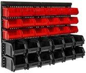 TecTake - schroeven rek - stapelbox , wandrek , 31 delig - voor schroeven e.d. - 402111