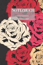 Notizbuch Garten Muster Pattern Pflanzen Blumen Pflanze Flower Bl�te Rose Rot Schwarz Hobby: - 111 Seiten - EXTRA Kalender 2020 - Einzigartig - Dot Gr