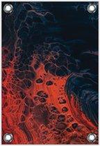 Tuinposter –Lava– 100x150cm Foto op Tuinposter (wanddecoratie voor buiten en binnen)