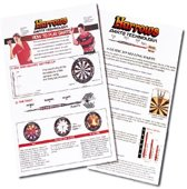 Harrows darts Instructieblad darts