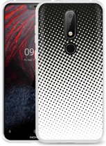Nokia 6.1 Plus Hoesje zwart witte cirkels