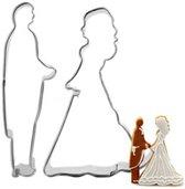 Bruiloft koekvormpjes - trouwerij koekvormpjes - fondant - uitstekers - wedding - bruid en bruidegom uitsteenvorm