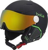Boll? Backline Visor Premium (2 lenzen) Unisex Skihelm - Soft Black & Green / 1 Fire Green + 1 Lemon Visor - 56-58 cm