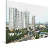 Panorama van Chennai Canvas 90x60 cm - Foto print op Canvas schilderij (Wanddecoratie woonkamer / slaapkamer)