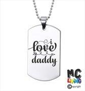 Ketting RVS - I Love Daddy