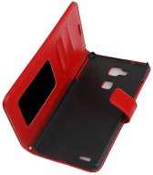 Cyclone cover wallet hoesje Huawei Mate S rood
