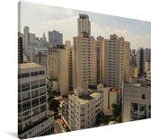 Gebouwen in het Zuid-Amerikaanse Brasília in de middag Canvas 90x60 cm - Foto print op Canvas schilderij (Wanddecoratie woonkamer / slaapkamer)